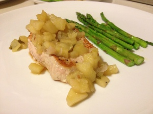 Pork Chops with Savory Apple Compote