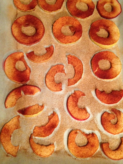 After the second flipping of the apples.