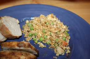 Chicken fried rice made with cauliflower